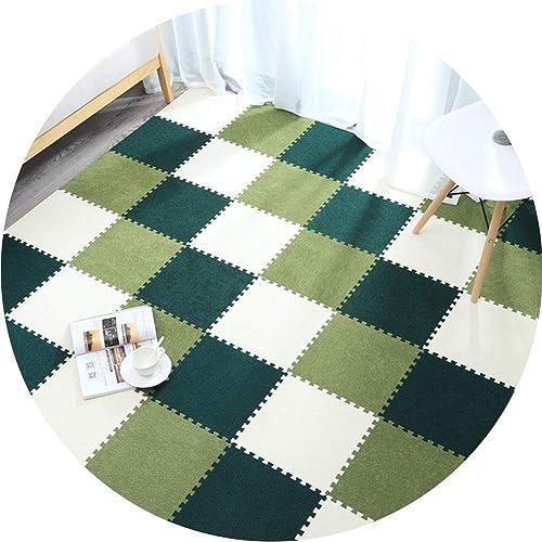LIQICAI-tapis Puzzle en Mousse Sol Enfant Et Bébé en Mousse Exterieur Intérieur Surface Douce Anti-Bruit Tuiles Imbriquées for Les Bébés Crawling Gym (Couleur   A, Taille   30X0.6cm-16 Pieces)
