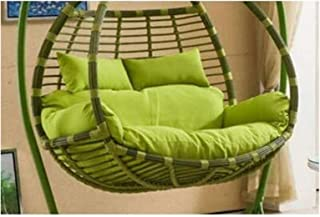 Garden Patio Rattan Swing Chair Cushion, Basket Swing Chair Cushion For Double Person Seater, Indoor Outdoor Egg Nest Chai...