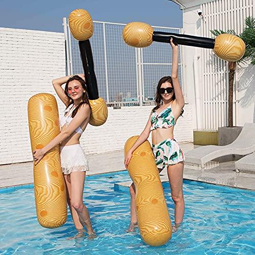 NGLSCXR 4 pcs Piscine Gonflable de Piscine Flottante Flotteur Jouets flottants Jeu Double Battement de Bain bousse Stick Jeux de Plein air Piscine Flotteur Eau Jouets pour la fête de Piscine dété