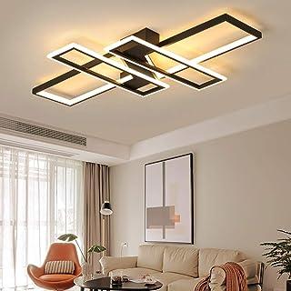 Moderna lámpara LED de techo para salón, regulable, pantalla de acrílico, de diseño cuadrado, para comedor, decorativa, cocina, casa de campo, mando a distancia