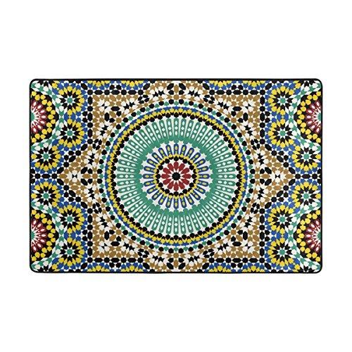LIANCHENYI - Felpudo Antideslizante con diseño árabe Tradicional, 91 x 61 cm