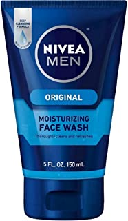 Nivea Men Nivea for Men Face Wash Cleans and Moisturizing with Menthol and Vitamin E, 5-Ounce Tube