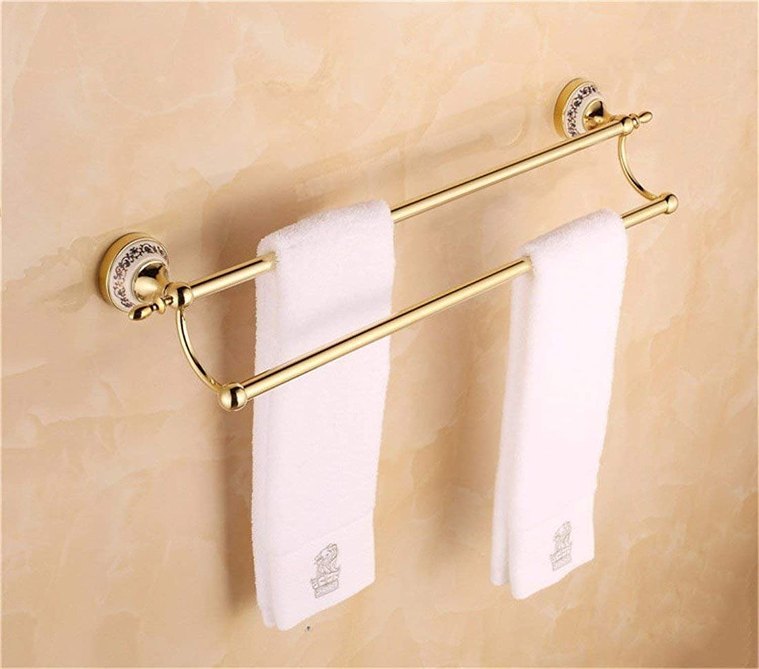 Accessories of European-Style Bathroom of Christmas in The Stainless Steel of gold Tiled Bathroom All Pendant, Door-Soap, Brush,Double Rack