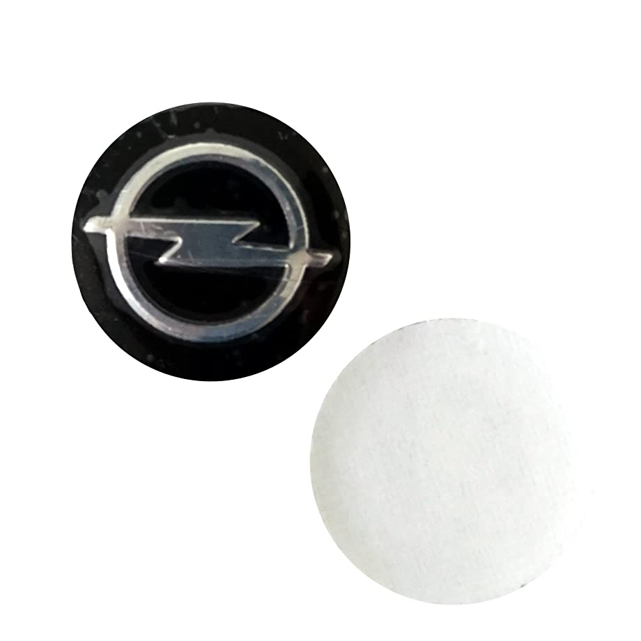 Bross BDP587FBA 2 Pieces Car Key Logo Auto Emblems Dia:1.4cm Car Styling Sticker for Opel