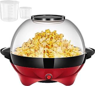 Machine à Popcorn, Électrique Machine à Pop Corn avec Plateau de Cuisson Détachable, Revêtement Antiadhésif, Bol de 5l Cou...