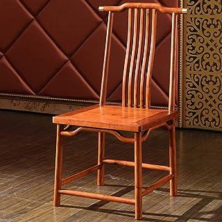 Zhenhe nórdico Silla de comedor de madera maciza Silla de silla de la computadora butaca duradero clásicas Sillas Home Hotel Restaurante de cocina adecuados (Color: Marrón, Tamaño: 47x45x96cm) Adecuad