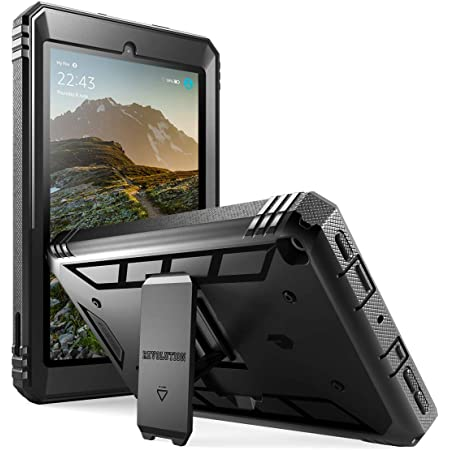 Amazon Com Poetic All New Fire 7 Tablet Case 9th Gen 2019 Release Full Body Shockproof Protective Cover With Kickstand Built In Screen Protector For Amazon Fire 7 Inch Tablet 9th Generation Black Computers Accessories