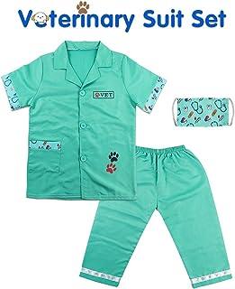Fajiabao Juguetes Medicos Veterinario - Disfraz Medico Enfermera Juego de rol con Máscara Mascotas Pascua Regalos Disfraz para Niña Niño 3 4 5 6 Años