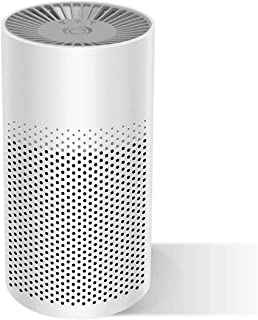Mini Portable Air Purifier for Home Bedroom Office Desktop Pet Room Air Cleaner for Car with True HEPA Filters and Silence