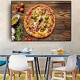Verduras Cocina Cocina Lienzo Pintura Carteles e impresiones Restaurante Arte de la pared Comida Imagen Sala sin marco