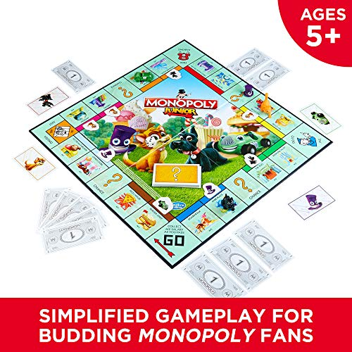 61cnmuL1RXL - Hasbro Monopoly Junior Board Game, Ages 5 and up (Amazon Exclusive)