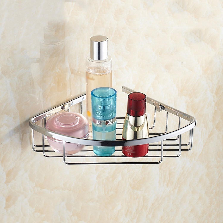 Chuangshengnet Bathroom Double Tripod Full Copper Storage Rack Wall Hanging Basket Shelf (Size   A)