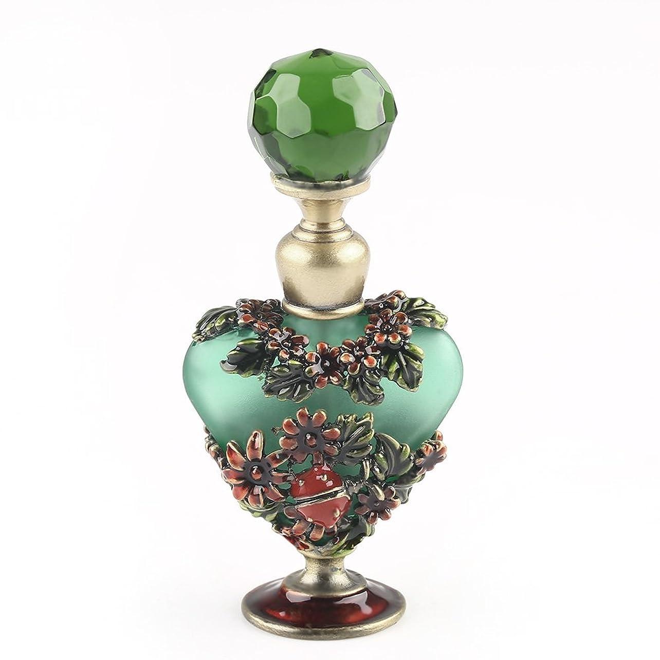 ちょうつがい葉っぱセントVERY100 高品質 美しい香水瓶/アロマボトル 5ML アロマオイル用瓶 綺麗アンティーク調 フラワーデザイン プレゼント 結婚式 飾り 70292