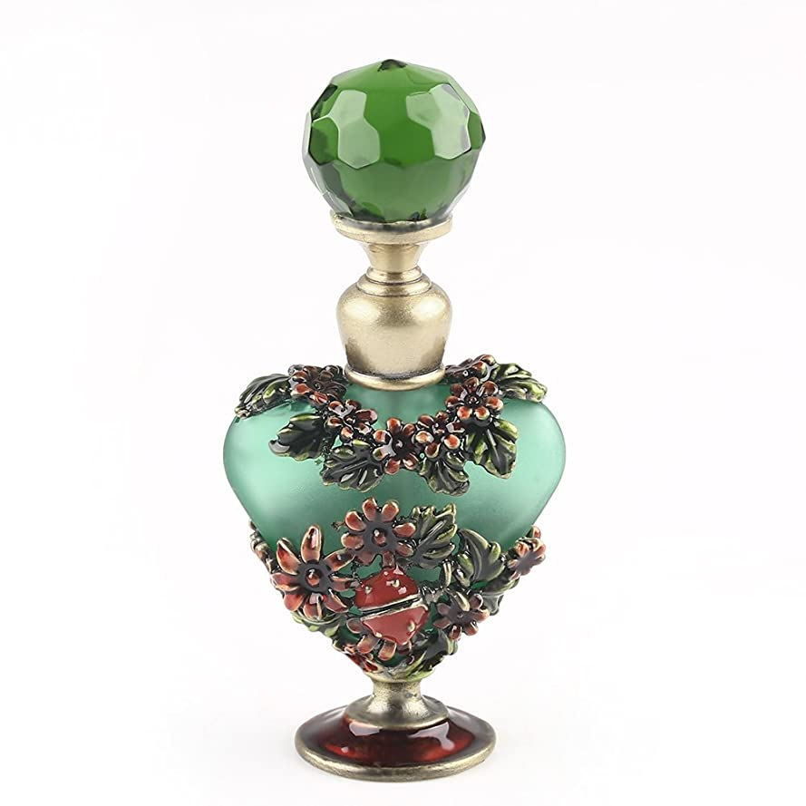 不良楽観的欠伸VERY100 高品質 美しい香水瓶/アロマボトル 5ML アロマオイル用瓶 綺麗アンティーク調 フラワーデザイン プレゼント 結婚式 飾り 70292