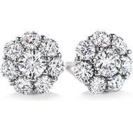 Glimmering Authentic - SWAROVSKI CRYSTAL - Nickel Free Earrings: 14mm Round Cut | Fashion Jewelry
