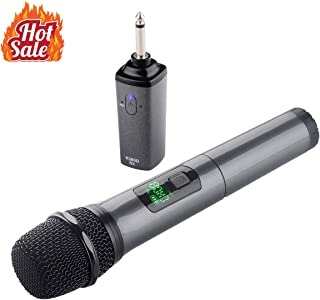 Wireless Microphone - Kithouse Bluetooth Karaoke Microphone Wireless Handheld With Rechargeable Receiver System - UHF Dynamic Cordless Mic Set For Karaoke Singing Church Speech, K380D