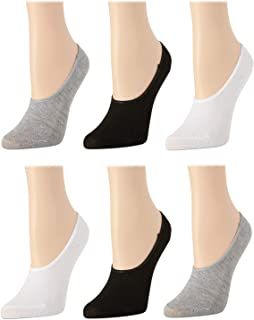 Women's No Show Non-Slip Grip Liner Socks With Reinforced...