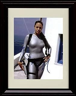 Framed Angelina Jolie Autograph Replica Print - Tomb Raider