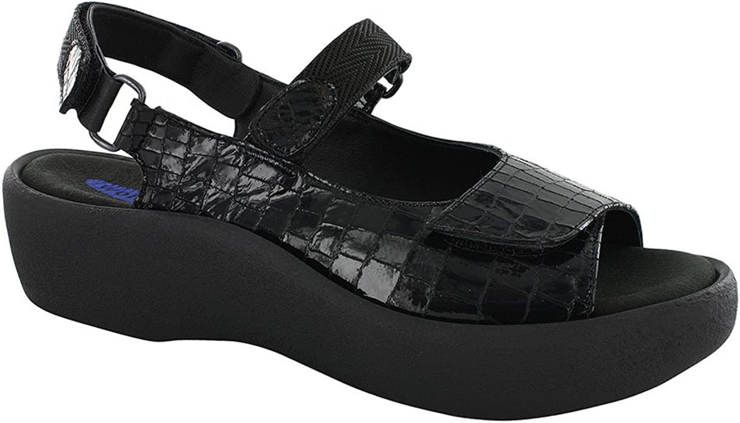 Wolky Women's Black Croco Jewel 42 M EU