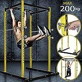 Physionics Cage à Squats - avec Barre de Traction et Support pour Haltères, Charge...