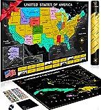 Scratch Off Karte der Vereinigten Staaten Paket mit