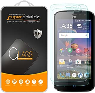(2 Pack) Supershieldz for ZTE (Majesty Pro Plus) Tempered Glass Screen Protector, 0.33mm, Anti Scratch, Bubble Free