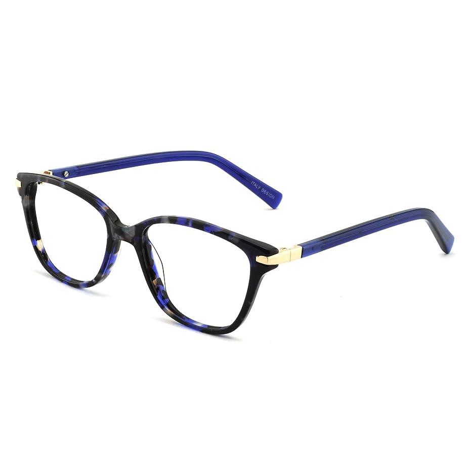 OCCI CHIARI Womens Rectangle Stylish Eyewear Frame Non-Prescription Clear Eyeglasses