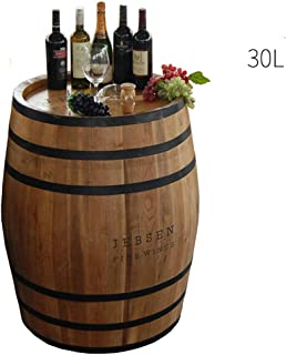 Whiskey barrel, Oak Barrel Wine Barrel Beer Barrel Wedding Photography Bar Wine Cellar Decoration TINGTING (Color : Brown, Size : 225L)