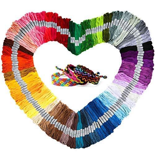Hilo bordado de color arco iris 165 madejas, para pulsera de amistad, cuerda y hilo de punto de cruz