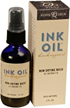Tattoo Aftercare Ink Oil Natural Tattoo Wash-Tattoo Oil-100% Natural-No Lanolin-No Petroleum-Made in the USA-98% Organic-Reduces Shower Pain-Smells Great-Quick Healing- 2oz bottle- Susie Q Skin