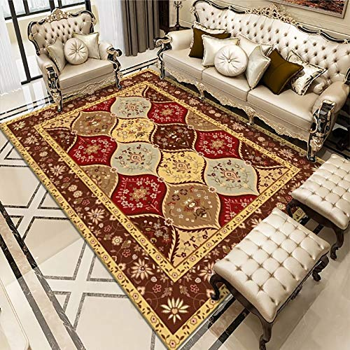 Oukeep Bosnian European Style Carpet, Non-Slip Thickening Washable Living Room Coffee Table Blanket Bedroom Sofa Entering Cushion