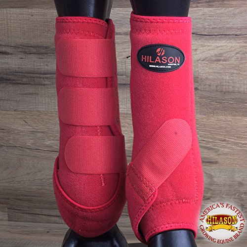 Gran Hilason infra-tech caballo medicina Deportes botas pata delantera rojo, Rojo