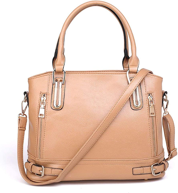 Ladies Handbag Ms. Handbag, Large Capacity, Shoulder Bag, Messenger Bag, Fashion, Lychee Patterns Bags, Traveling Bags, Leisure Bags, Retro Bags, Shopping Bags, Shopping Bags (color   Beige)