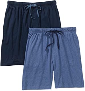 Hanes Men's Jersey Knit Cotton Button Fly Pyjama Sleep Shorts
