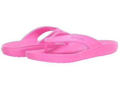 Crocs Classic II Flip (Electric Pink) Shoes