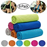 """Best Cooling Towels - CHARS Cooling Towel 6 Packs (40""""×12""""), Microfiber Towel Review"""