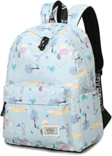 Backpacks for Teen Girls Middle School, 14 inch Laptop Bag Travel Rucksack, Fashion Casual Daypack, Teenage School Backpack Women Print Backpack Purse (Color : Light Blue)