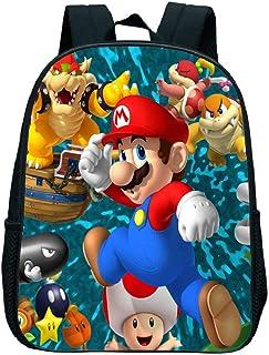 Dibujos Animados Super Mario Smash Bros Niños Mochilas Escolares para Niños Niñas, Mochila de Gran Capacidad Satchel Kids Kindergarten Book Bag