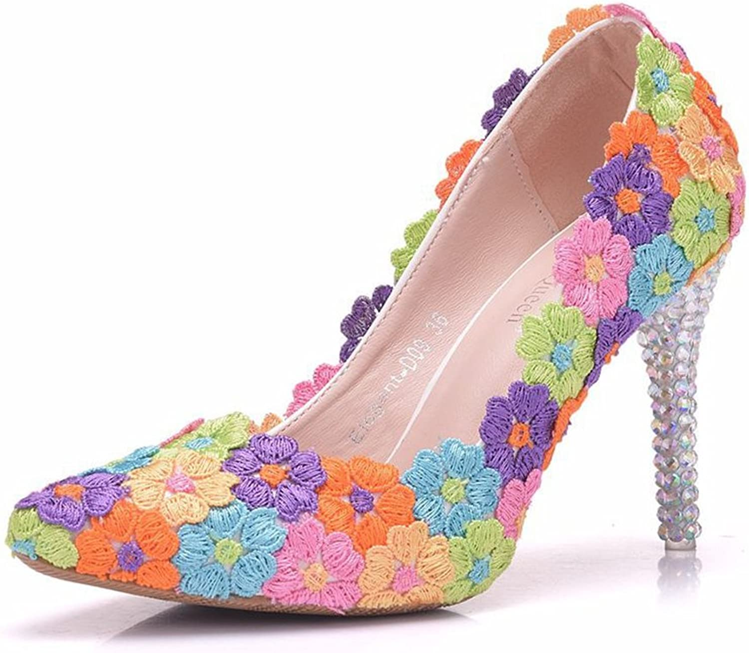SUNNY Store Women Pumps shoes High Heels Wedding shoes Elegant Rhinestone Pointed Toe shoes Party shoes