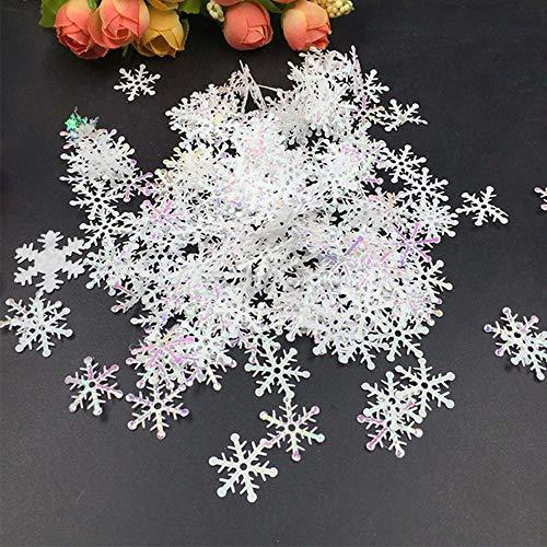 1200pcs Winter Wonderland White Snowflake Decorations Snowflake Confetti Christmas Decorations/Xmas/Holiday/Birthday Party Supplies