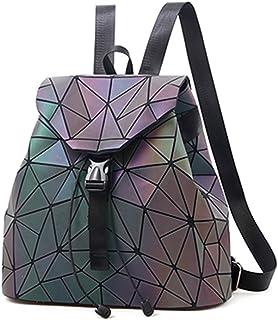 حقيبة ظهر Nevenka Geometric Lingge Luminous Women حقيبة ظهر ثلاثية الأبعاد عاكسة ملونة GL7316