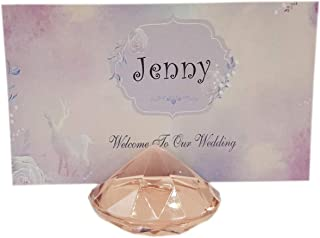 Momosupplier 20Pcs Table Place Card Holders,Name Place Card Holder,Place Card Holder Stand for Weddings,4cm (Rose Gold)