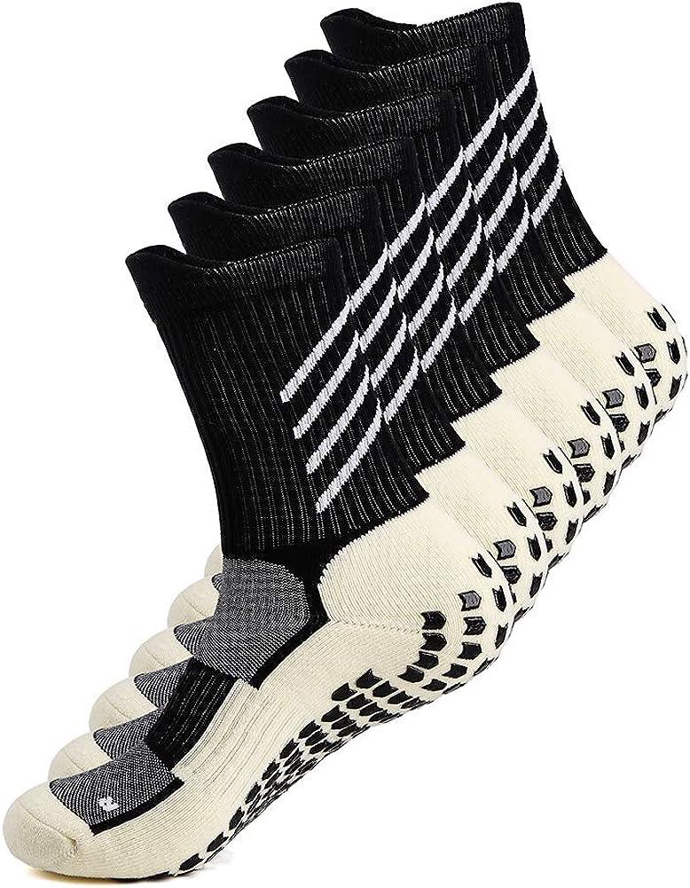 Anti-slip Athletic Sock Non-slip Sport Sock for Men Women, Non-skid Slipper Sock with Grip