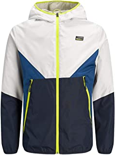 Jack & Jones Colour Blocking Casual Streetwear Men's Hooded Jacket