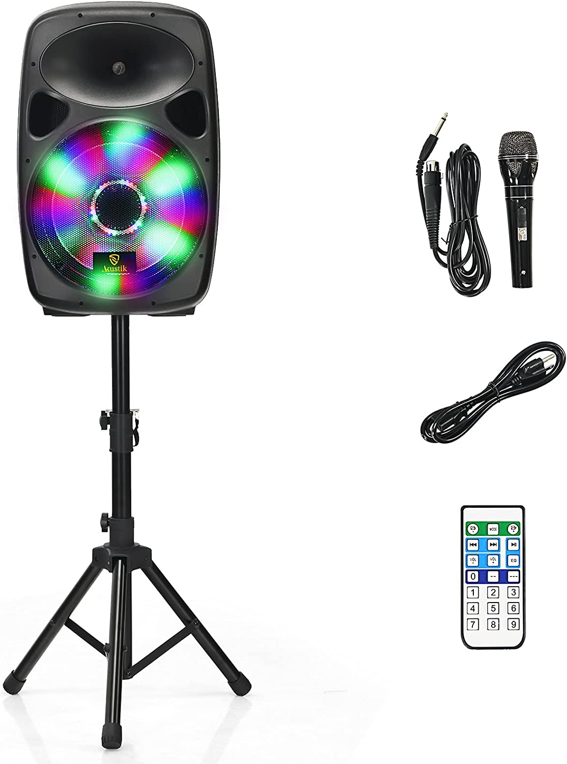 Directly managed store AKUSTIK Portable PA Speaker System with Courier shipping free shipping Ra 2-Way Light Full LED