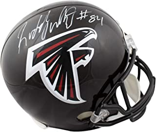 Roddy White Autographed Atlanta Falcons Full-Size Football Helmet - JSA COA