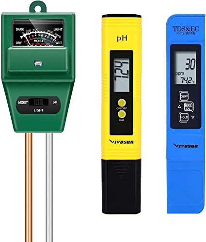 new arrival VIVOSUN PH Meter, sale TDS and EC Meter, and 3-in-1 Soil online Moisture Tester Combo outlet online sale