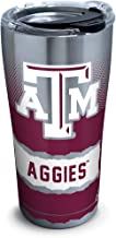 Tervis 1269358 Texas A&M Aggies Knockout Stainless Steel Tumbler with Clear and Black Hammer Lid 20oz, Silver