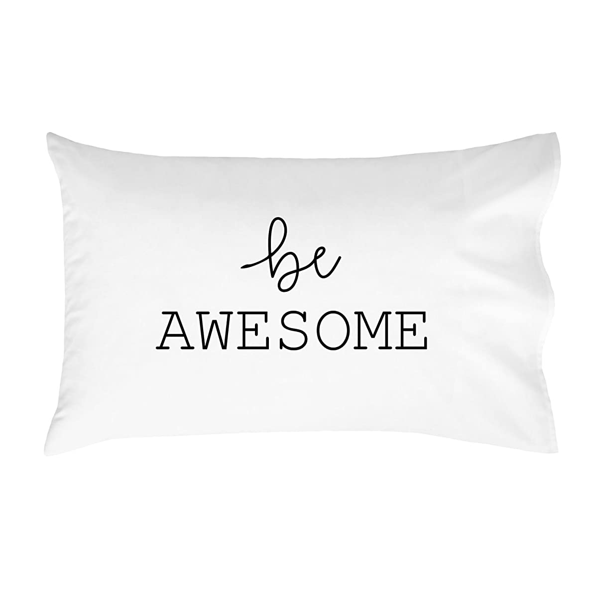 Oh, Susannah be Awesome Pillowcases - Standard Size Pillowcase(1 20x30 inch, Black) Graduation Gifts College Fun Pillowcases Dorm Room Accessories