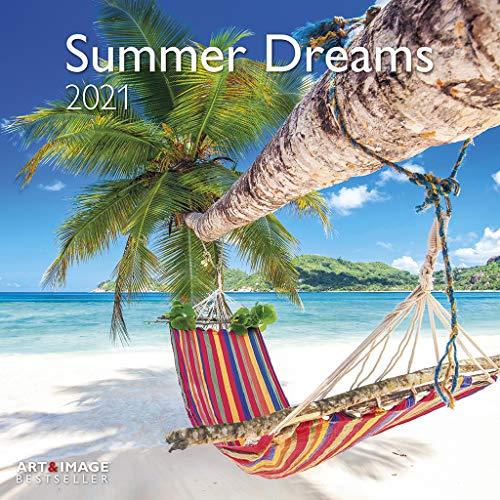 Summer Dreams 2021 - Wand-Kalender - Broschüren-Kalender - A&I - 30x30 - 30x60 geöffnet